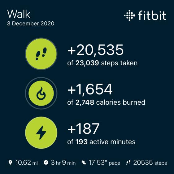 3rd Dec Walk