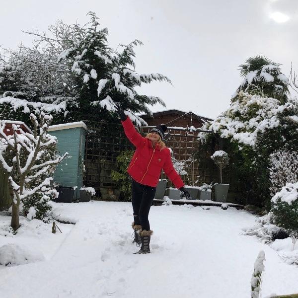 2 Sarah back garden snow