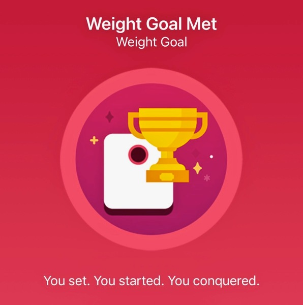 Weight loss goal badge